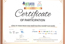 CERTIFICATE OF PATICIPATION VAN NGHIA - VIETWATER 2019